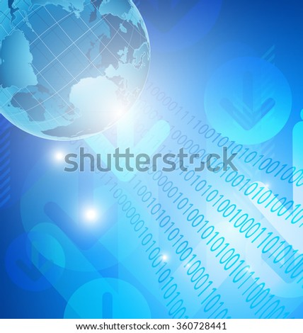 abstract digital global technology internet background vector design