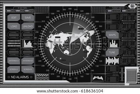 Abstract digital radar screen world map stock vector hd royalty abstract digital radar screen world map stock vector hd royalty free 618636104 shutterstock publicscrutiny Image collections