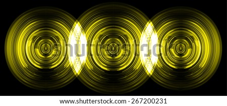 abstract digital sound wave pattern background. dark yellow Light Abstract Technology background for computer graphic website internet and business. circuit. vector - stock vector