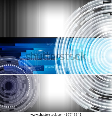 Abstract digital techno background - vector illustration