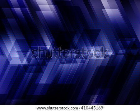 Abstract digital technology background with blue stripes. Vector illustration EPS10 - stock vector