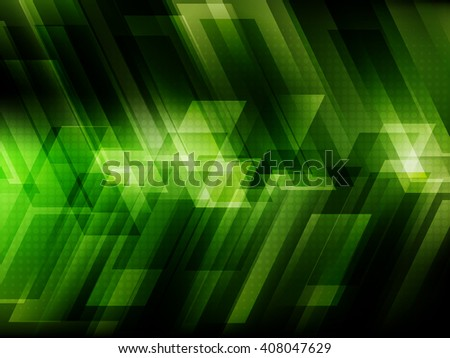 Abstract digital technology background with green stripes. Vector illustration EPS10 - stock vector
