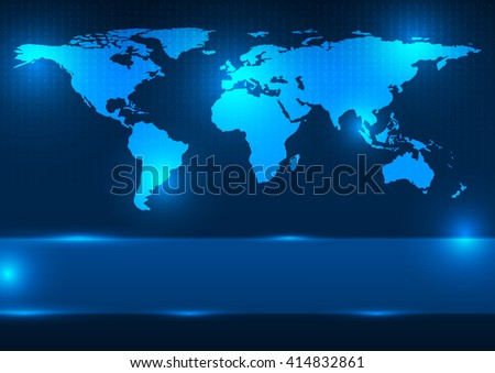 Modern blue world map wallpaper dark stock illustration 93530626 abstract digital world map vector illustration elements of this image furnished by nasa gumiabroncs Image collections