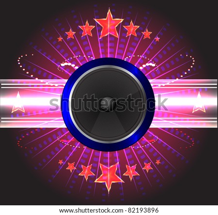 Abstract Disco background - stock vector