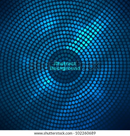 Abstract disco background with halftone. - stock vector