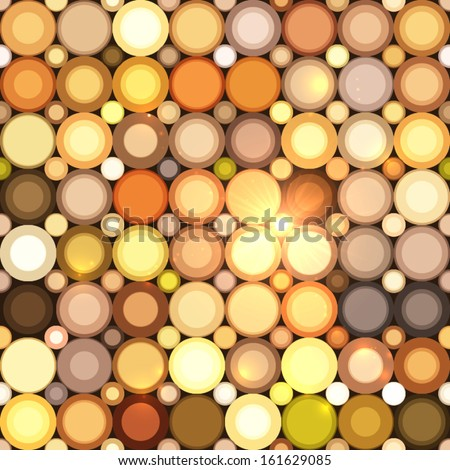 Abstract disco circles vector seamless pattern - stock vector