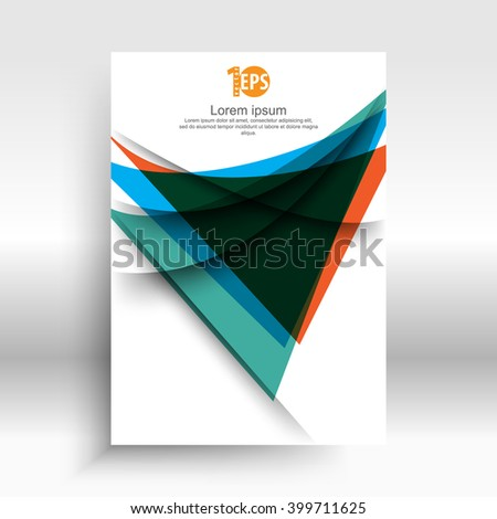 abstract distorted shape geometric elements material business design. eps10 vector - stock vector