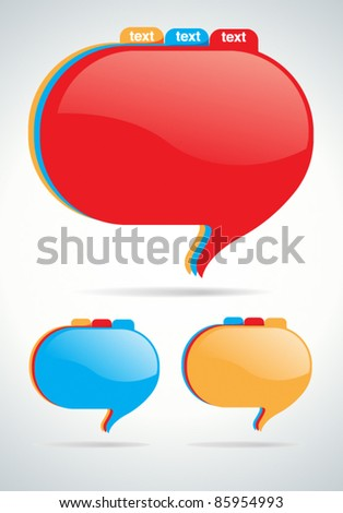 Abstract document style speech bubble - stock vector