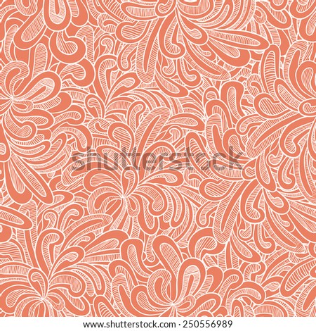 Abstract doodle seamless pattern