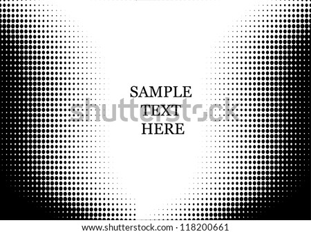 Abstract dot halftone  backgraund for text - stock vector