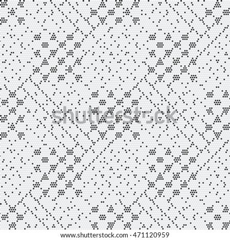Abstract dot textured subtle checked geometric motif. Seamless pattern.