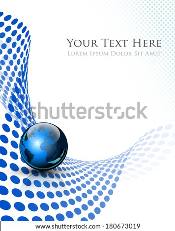 Abstract dots background with dedicated room for your text and logo - vector illustration - stock vector