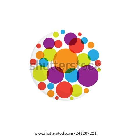Abstract dots logo - stock vector