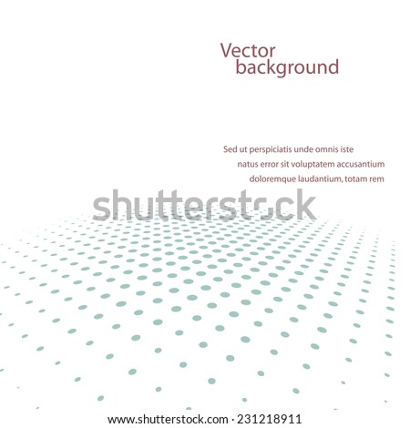 Abstract dotted background.  - stock vector