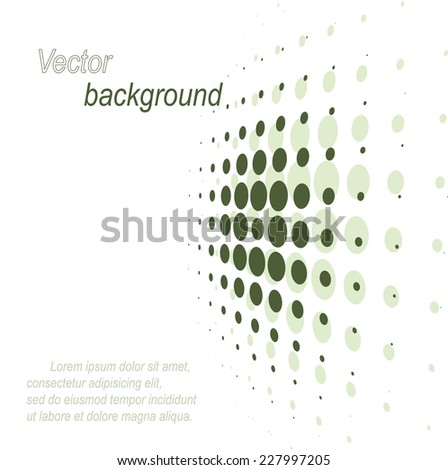 Abstract dotted background. Green colors - stock vector