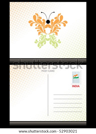 abstract dotted background with butterfly in flag color - stock vector