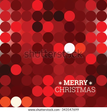 Abstract dotted christmas vector editable background, eps 8 - stock vector