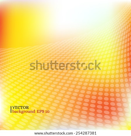 Abstract dotted circle background - stock vector