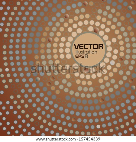 Abstract Dotted Circle Background. Vector Illustration. Eps 10. - stock vector