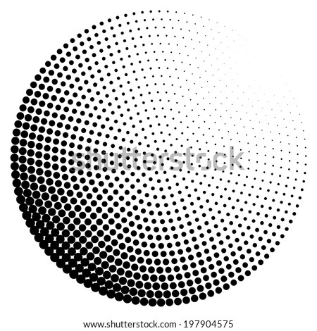 Abstract dotted radial background - stock vector