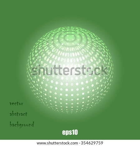 Abstract dotted sphere vector background - stock vector
