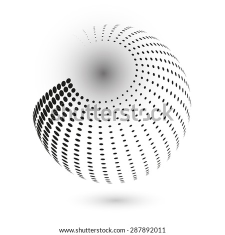 Abstract dotted vector 3d sphere