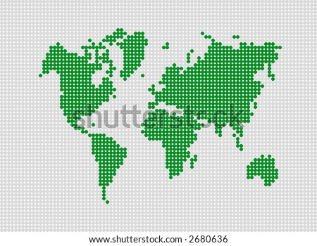 Abstract dotted world map made dots stock photo photo vector abstract dotted world map made with dots grouped for easy color change gumiabroncs Choice Image