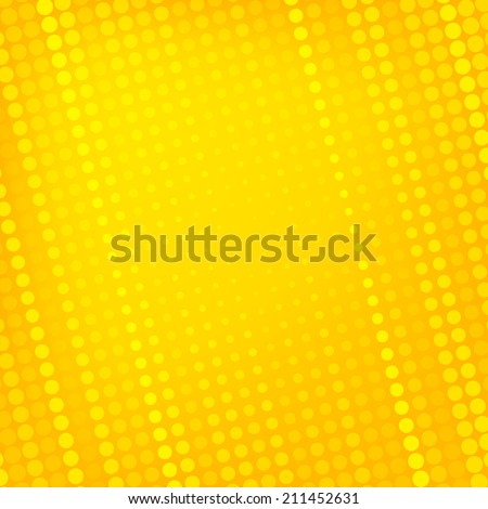Abstract dotted yellow background texture - stock vector