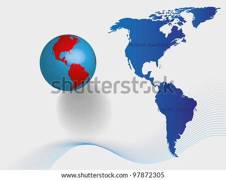 abstract earth background, America