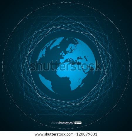 Abstract Earth Background | EPS10 Vector Design - stock vector
