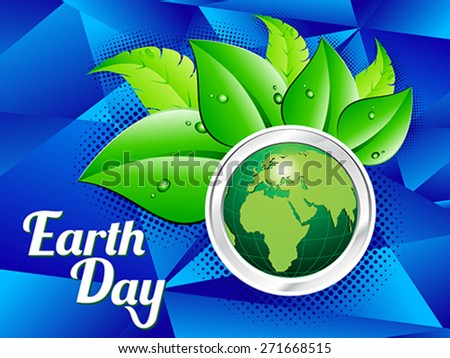 abstract earth day background vector illustration  - stock vector