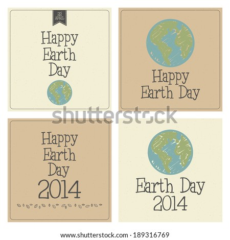 Abstract earth day background with special objects - stock vector