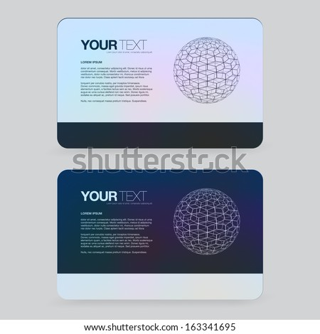 Abstract earth design business card template  Eps 10 vector illustration - stock vector