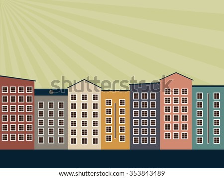 Abstract Eco City, Think Green Concept - stock vector