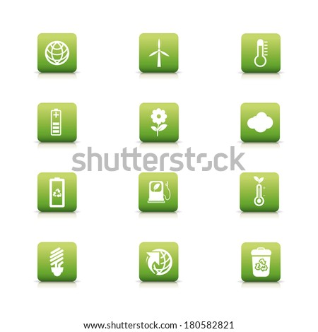 abstract eco planet icons on a white background