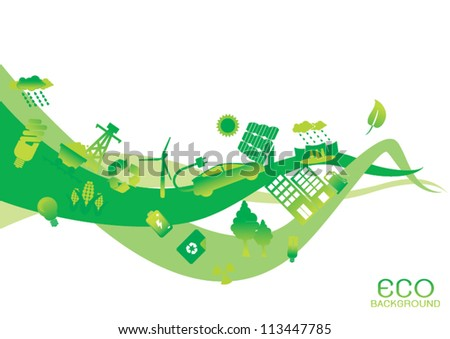 abstract ecology - stock vector