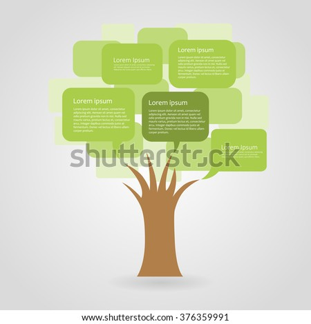 Abstract ecology infographic, vector illustration - stock vector