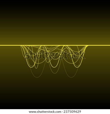 abstract electric pulse wave, abstract voice technology background - stock vector