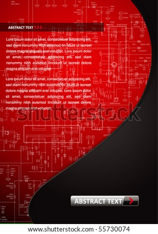 abstract electronic chip background - stock vector