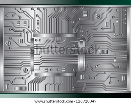 Abstract electronic vector background. - stock vector