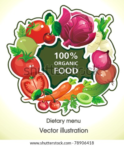 Abstract Elegance food background, Vegetable vector illustration - stock vector