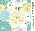 Abstract Elegance seamless floral pattern. Beautiful flower vector illustration texture - stock photo