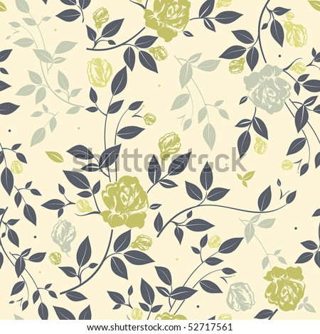 Abstract Elegance seamless floral pattern, vector illustration - stock vector
