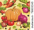 Abstract Elegance seamless food pattern, Vegetable vector illustration - stock vector