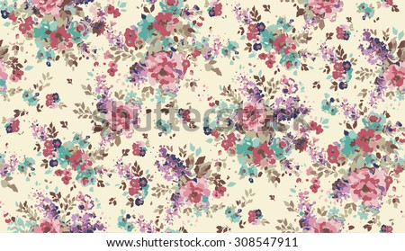 Abstract Elegance Seamless pattern - stock vector