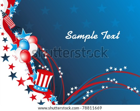 abstract elegant concept background for 4th july - stock vector