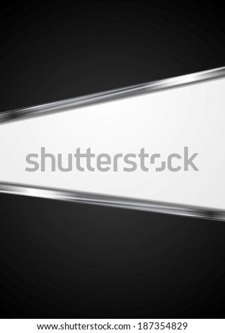 Abstract elegant vector design with metallic stripes - stock vector