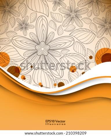 abstract elegant vintage leaf foliage elements illustration. eps10 vector format - stock vector