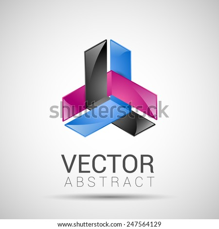 abstract element shape vector design icon - stock vector