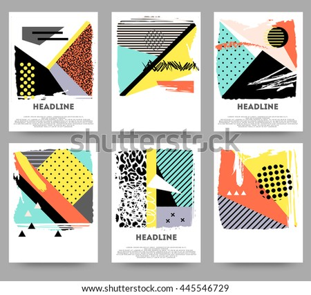 Abstract elements cards - stock vector